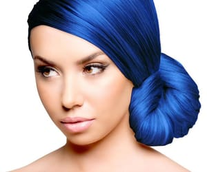 hair, blue, and capelli image