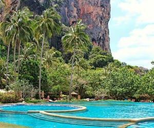 paradise, travel, and pool image