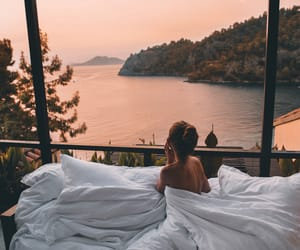 girl, sunset, and beauty image