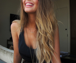 hair, girl, and smile image