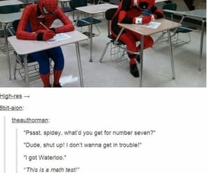 spiderman, deadpool, and funny image