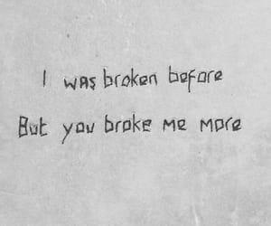 broken and sad image