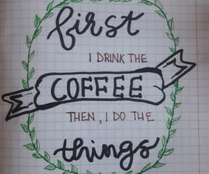 caligraphy, cafea, and coffee image