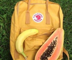 backpack, banana, and papaya image