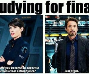 iron man, funny, and finals image