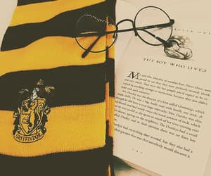 aesthetic, harry potter, and yellow image