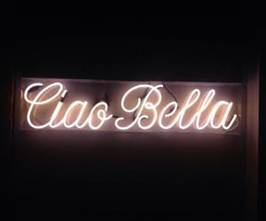 light, neon, and ciao bella image