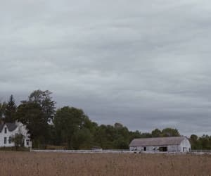 barn, clouds, and farm image