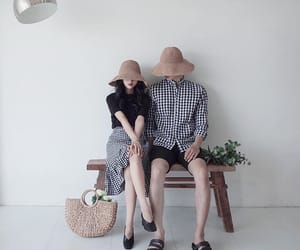 checkered, outfits, and couples image