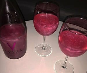 drink, glitter, and pink image