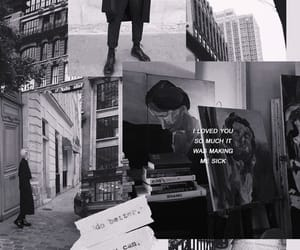 aesthetic, black and white, and Collage image