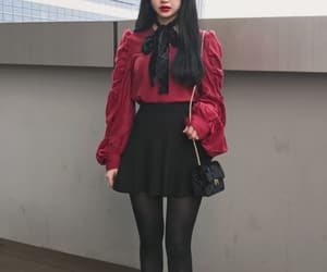 anime, outfit, and black image