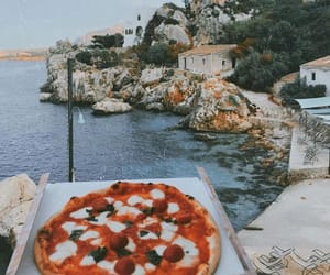 eat, pizza, and sea image