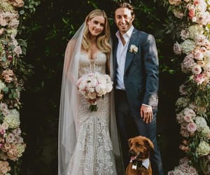 wedding, claire holt, and dog image