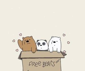 we bare bears, wallpaper, and panda image