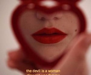 Devil, red, and woman image