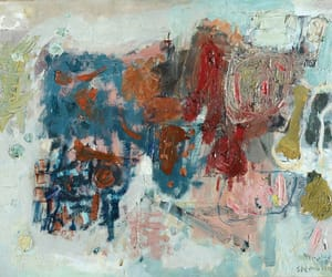 Abstract Painting, abstract expressionism, and israeli painter image