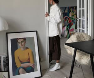 art, boots, and clothing image