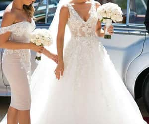 dress, wedding, and haïr image