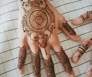 brown, hands, and henna image