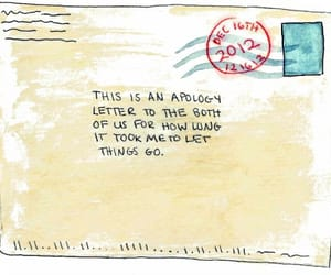 alone, dear, and envelope image