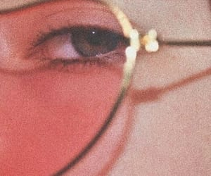 glasses, eye, and retro image