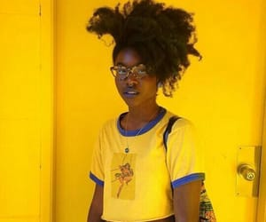 girl, yellow, and beautiful image