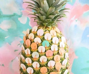 colors, pineapple, and wallpaper image