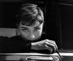 audrey hepburn, black and white, and actress image