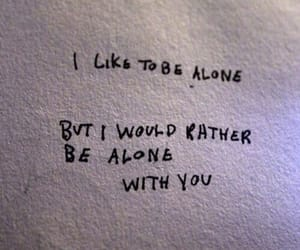 alone, love, and quotes image