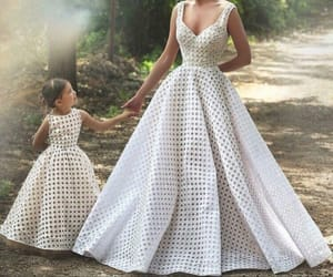 dress, mother, and family image
