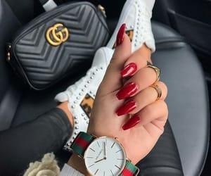 nails, gucci, and bag image