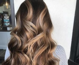 blonde, long hair, and balayage image