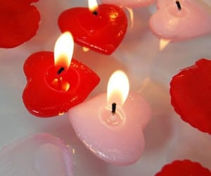 red, pink, and candle image