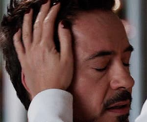 gif, Marvel, and tony stark image