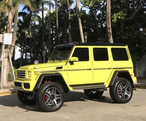 luxury, yellow, and yellow g wagon image