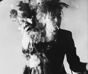 black and white, roses, and matt healy image