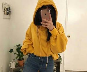 yellow, outfit, and tumblr image