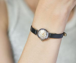 etsy, tiny watch lady, and silver lady watch image
