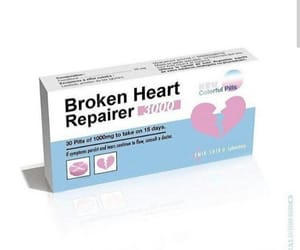 broken, fake, and heart image