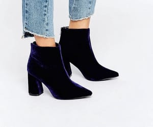 ankle boots, blue, and boots image