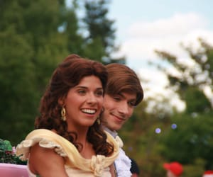 beauty and the beast, disneyland, and belle image