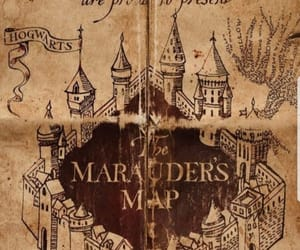 map, james potter, and marauders image
