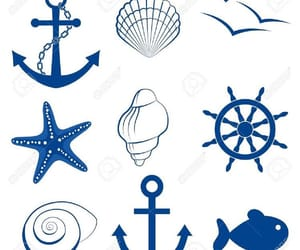 anchor, maritim, and art image