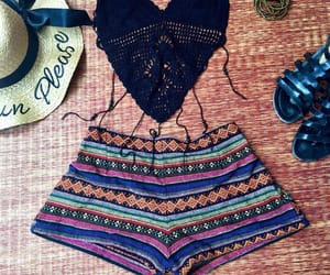 bohemian, jeans, and beach shorts image