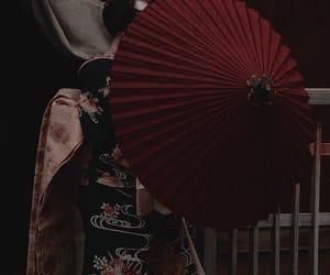 dark, theme, and red image
