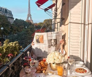 breakfast, paris, and Sunny image