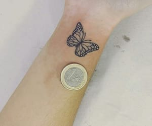 butterflies, butterfly, and tatoo image