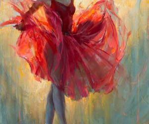 art, ballet, and red image