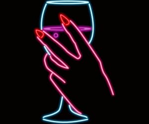 alcohol, nails, and neon image